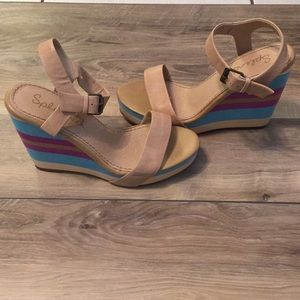 Splendid Platform Wedge Sandals